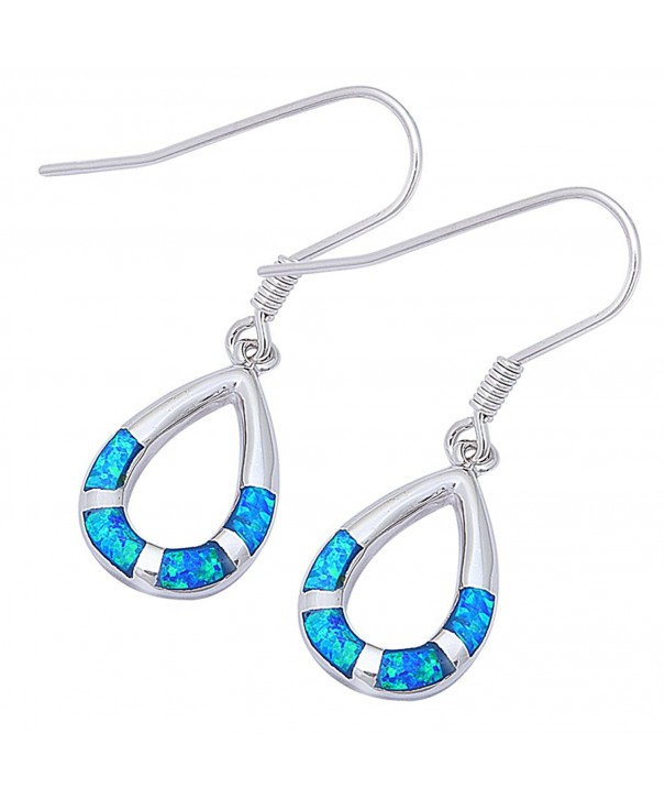Created Dangle Sterling Silver Earrings
