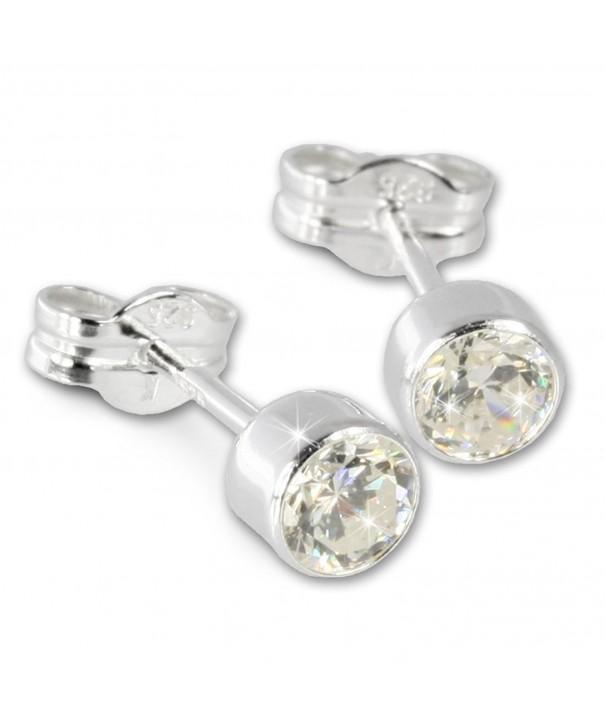 SilberDream earring Zirkonia Sterling SDO503W