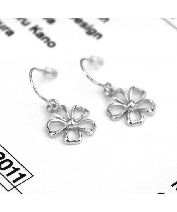 Sterling Silver Rhodium Plated Earrings