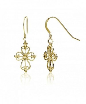 Yellow Flashed Sterling Filigree Earrings