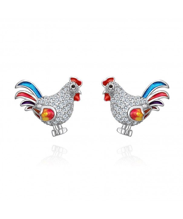 EVER FAITH Sterling Multicolor Earrings