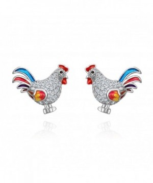 EVER FAITH Sterling Multicolor Earrings