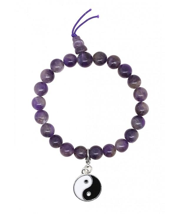 Tibetan Meditation Simulated Amethyst Bracelet