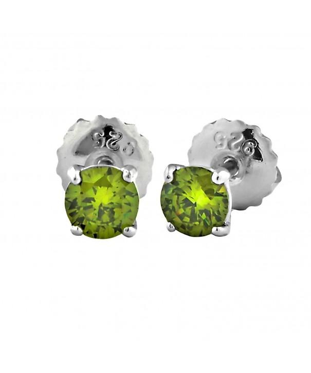 Ellah Brilliant cut Simulated Peridot Earrings
