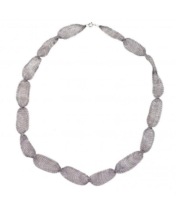32 Gray Titanium mesh necklace