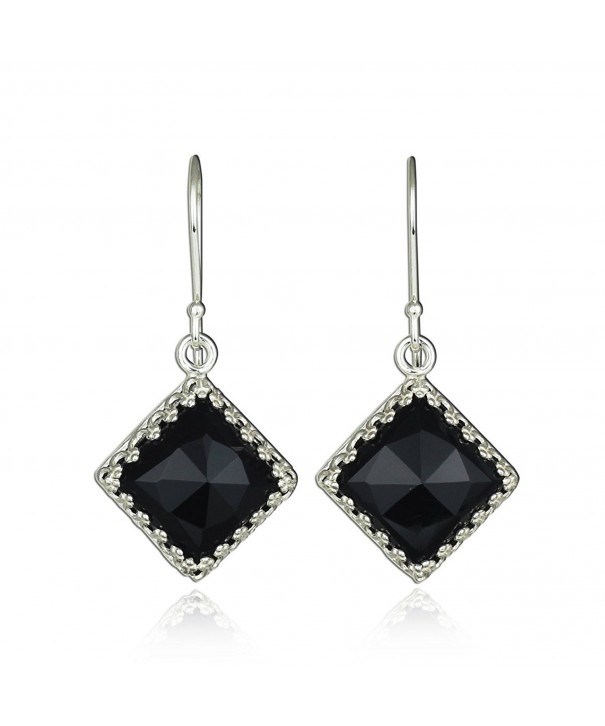 Ornate Diamond Sterling Earrings Gemstone
