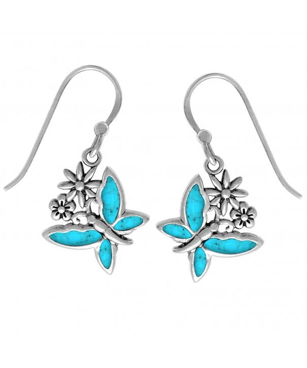 Boma Sterling Turquoise Butterfly Earrings