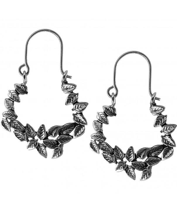 Sterling Silver Oxidized Flowers Earrings