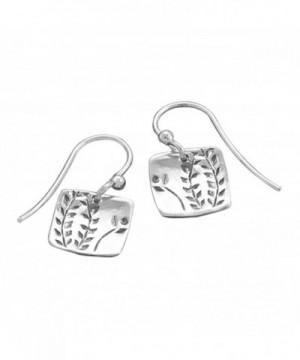 Design Sterling Silver Square Earrings