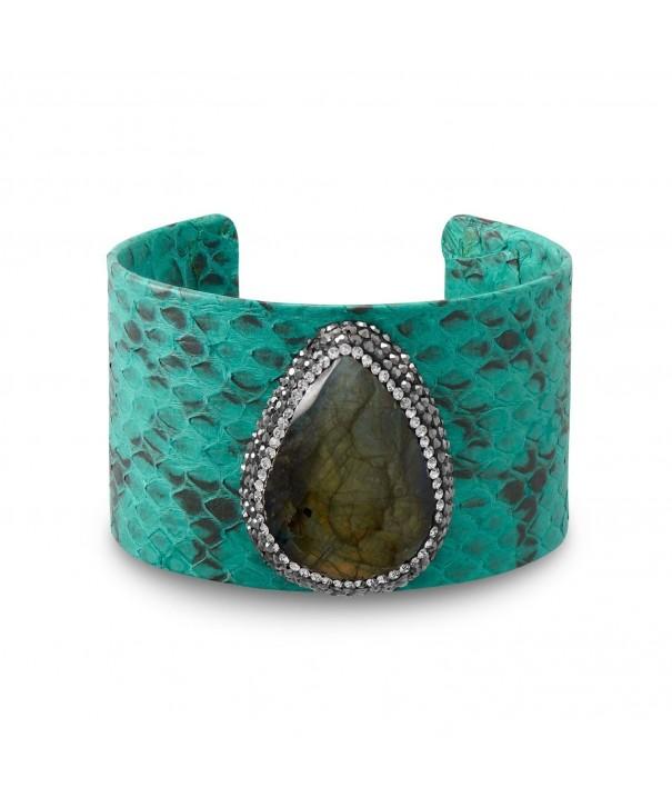 Labradorite Snakeskin Crystal Fashion Bracelet