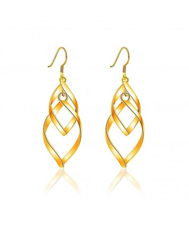 Kalapure Plated Twisted Marquise Earrings