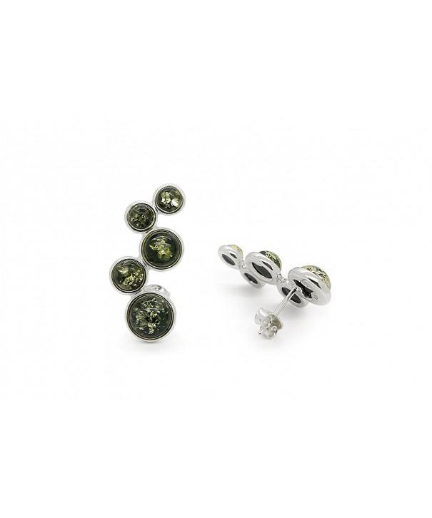 Sterling Circles Earrings Genuine Natural