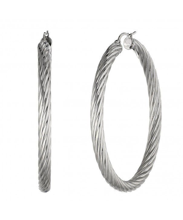 Metro Jewelry Twisted Stainless Earrings