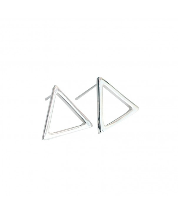 Wicary Geometric Sterling Earrings Triangle