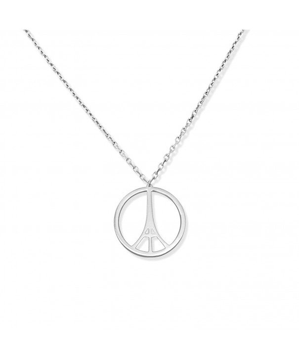 Eiffel Necklace Pendant Sterling Silver