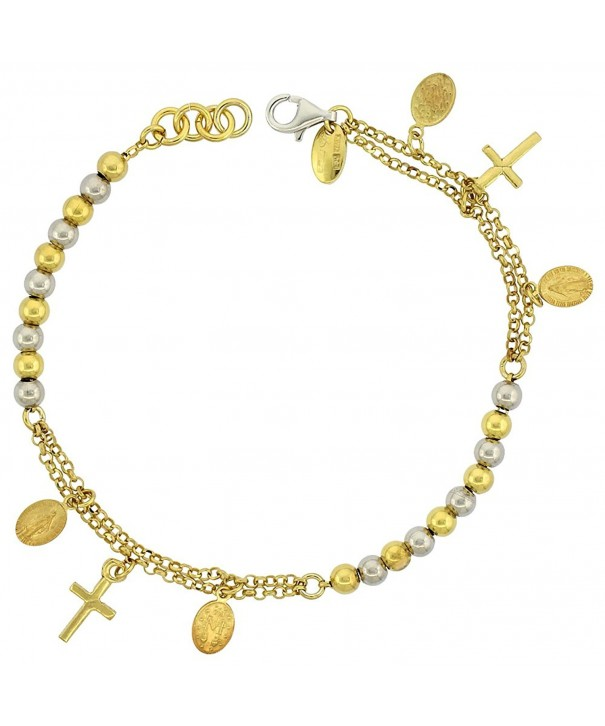 Sterling Silver Bracelet Miraculous two tone