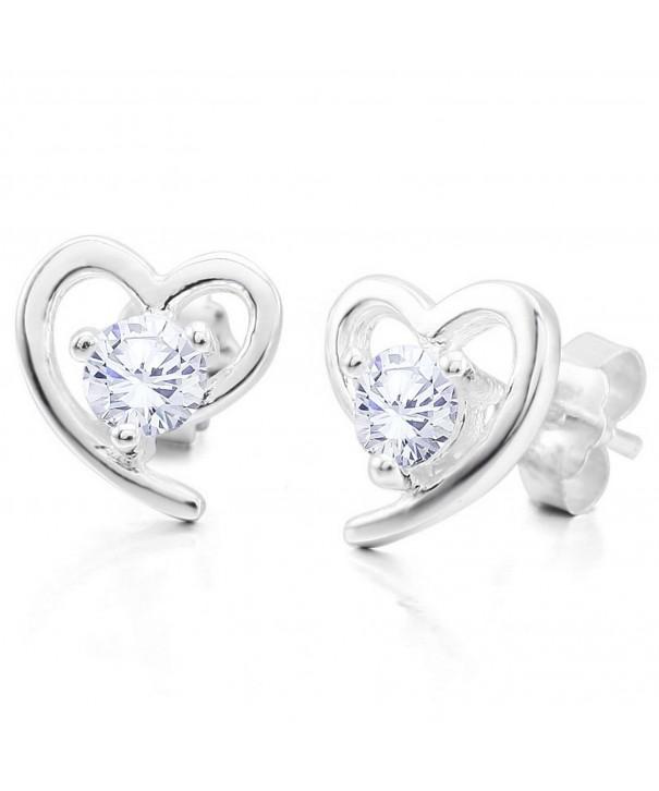 INBLUE Womens Sterling Silver Earrings