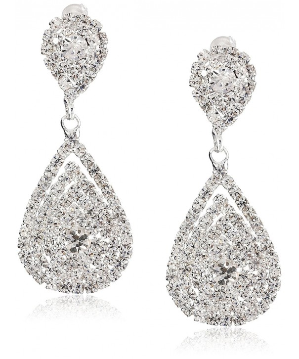 ACCESSORIESFOREVER Wedding Jewelry Beautiful Crystal