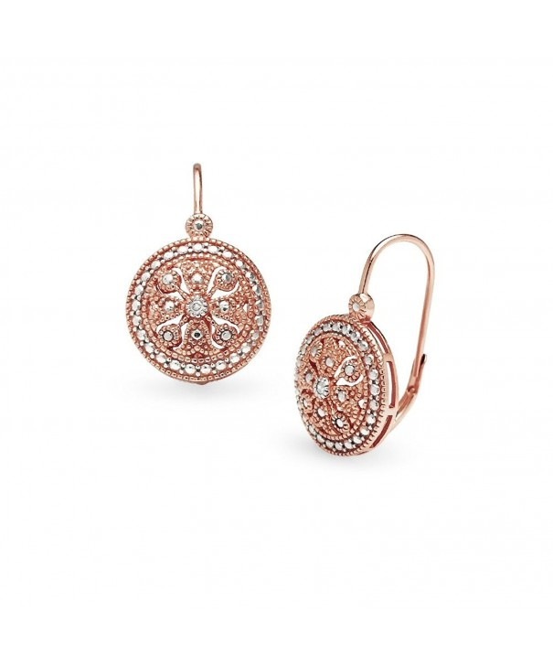 Sterling Filigree Medallion Leverback Earrings