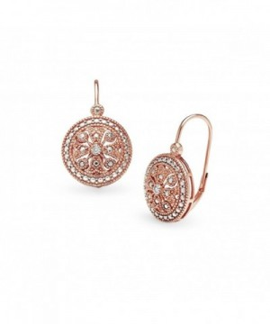 Sterling Filigree Medallion Leverback Earrings