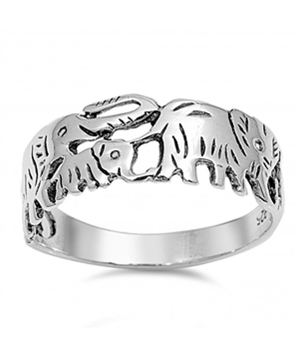 Elephant Playful Fashion Sterling Silver