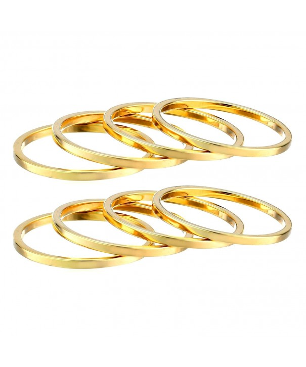 Womens Plain Knuckle Stacking Rings