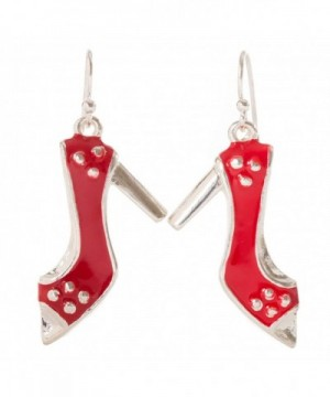 Artisan Owl Enamel Stiletto Earrings