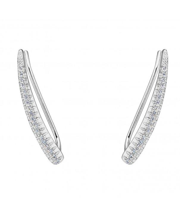 EVER FAITH Sterling Elegant Earrings