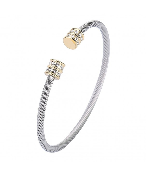 Twisted Bangle Stainless Steel Bracelet