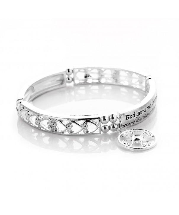 Novadab Serenity Prayer Engraved Bracelet