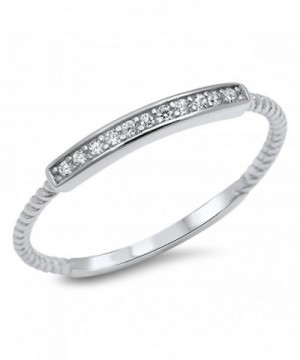 Clear Promise Sterling Silver RNG16003 3 5