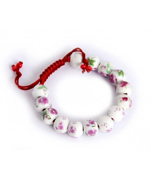 Vintage Style Porcelain Buddhist Bracelet