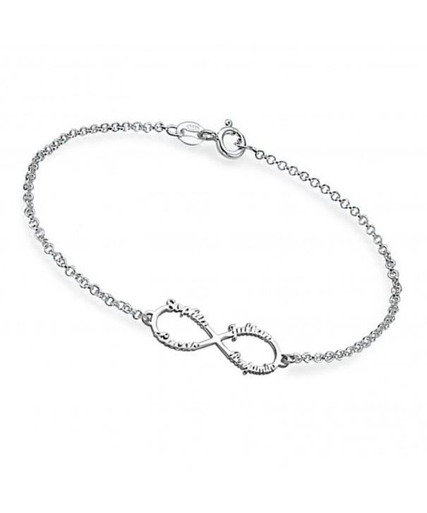 Ouslier Personalized Sterling Infinity Bracelet