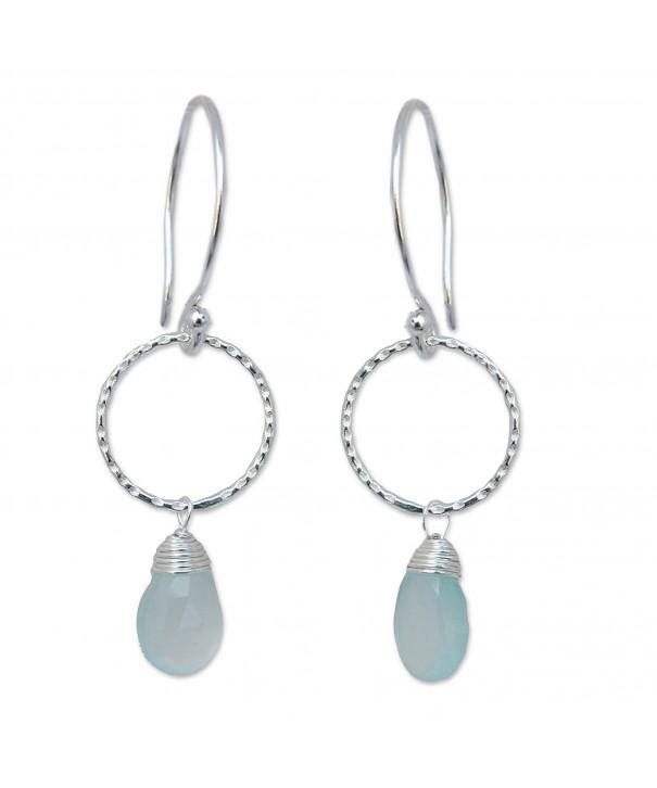 NOVICA Sterling Chalcedony Gemstone Earrings