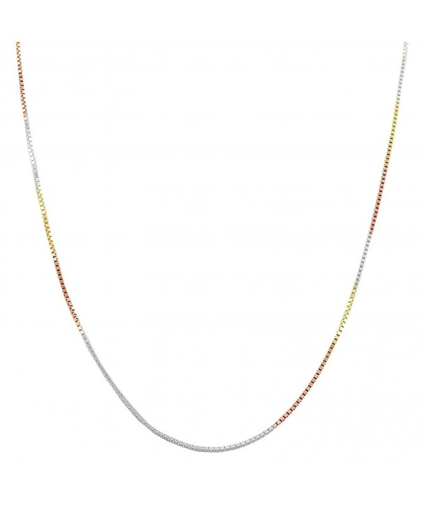 Tricolor Sterling Silver Venetian Necklace