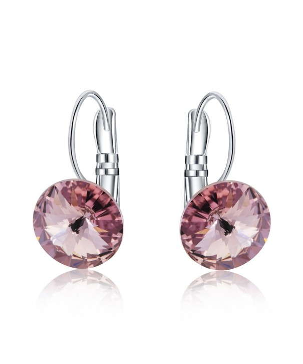 Crystal Leverback Earrings Swarovski Crystals