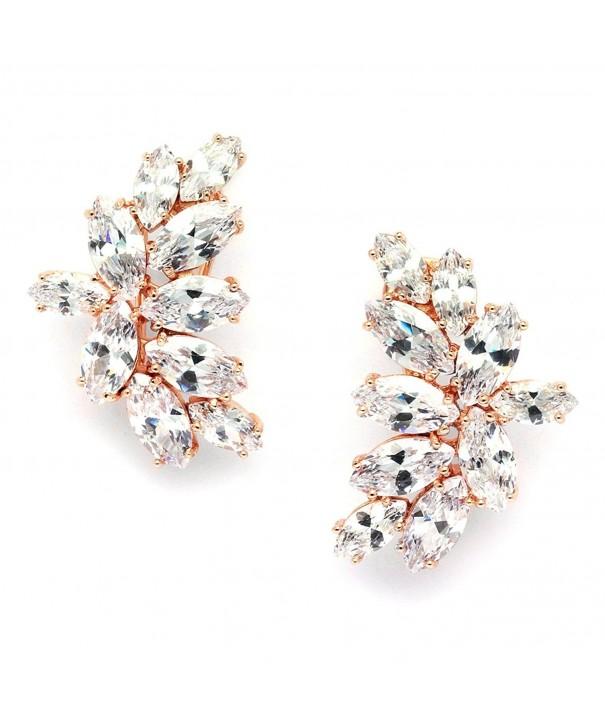 Mariell Blush Earrings Marquis Cut Clusters