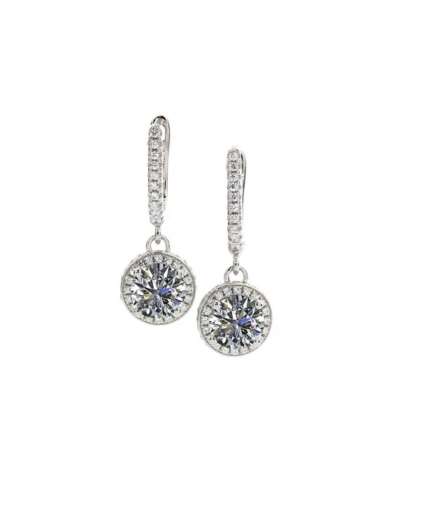 Dangle Earrings Sterling Swarovski Platinum