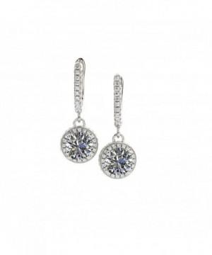 Dangle Earrings Sterling Swarovski Platinum