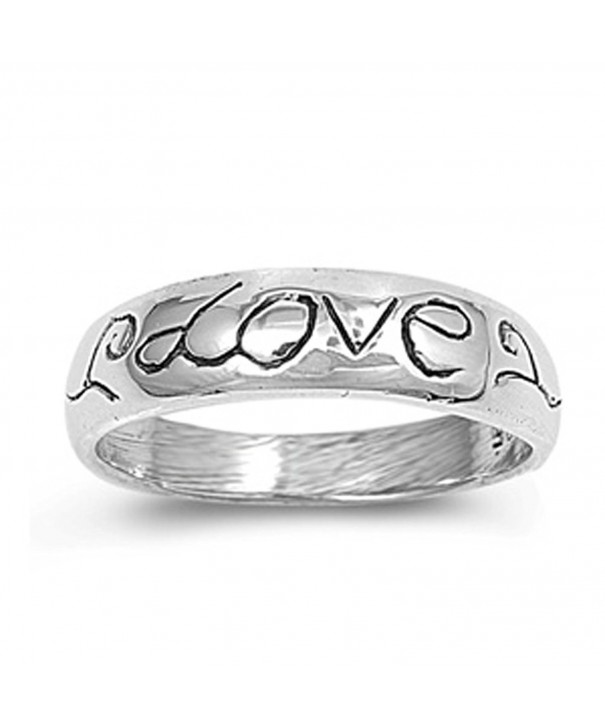 Love Polished Thumb Sterling Silver