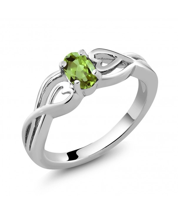 Sterling Silver Green Peridot Womens