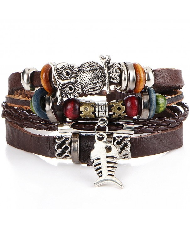 Vintage Handmade Leather Bracelets Wristband
