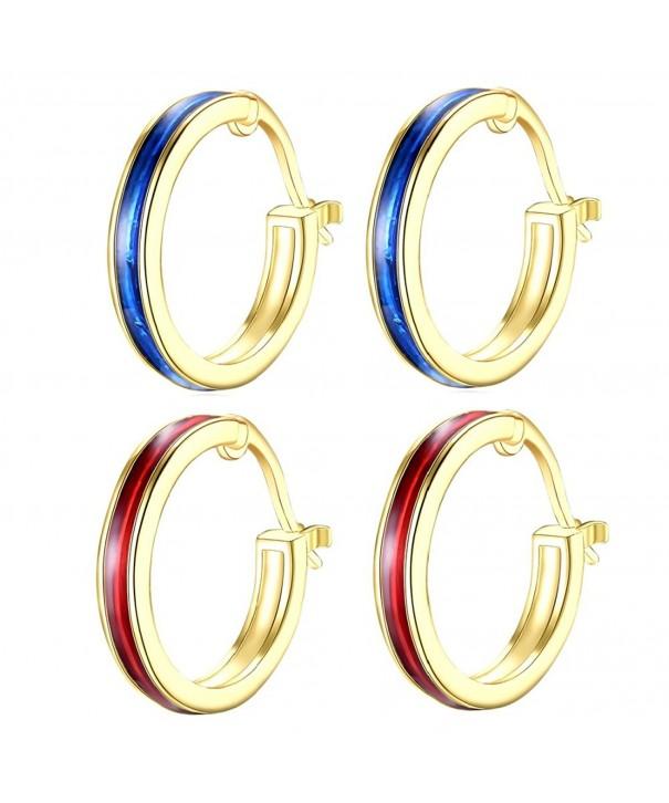 Plated Enamel Christmas Earrings Womens