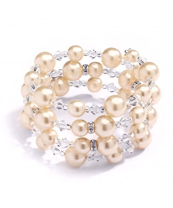 Mariell Champagne Around Bracelet Brides