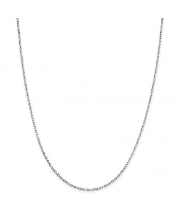 Sterling Silver Beveled Cable Necklace