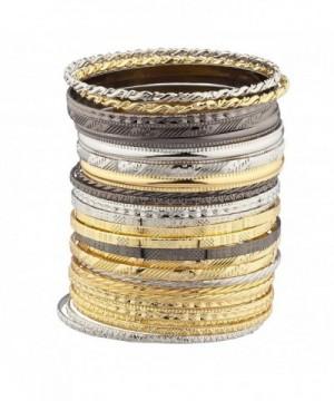 Lux Accessories Textured Multiple Bracelet