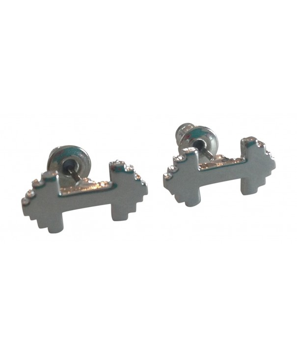 Dumbbell Stud Earrings Thimbleful Threads