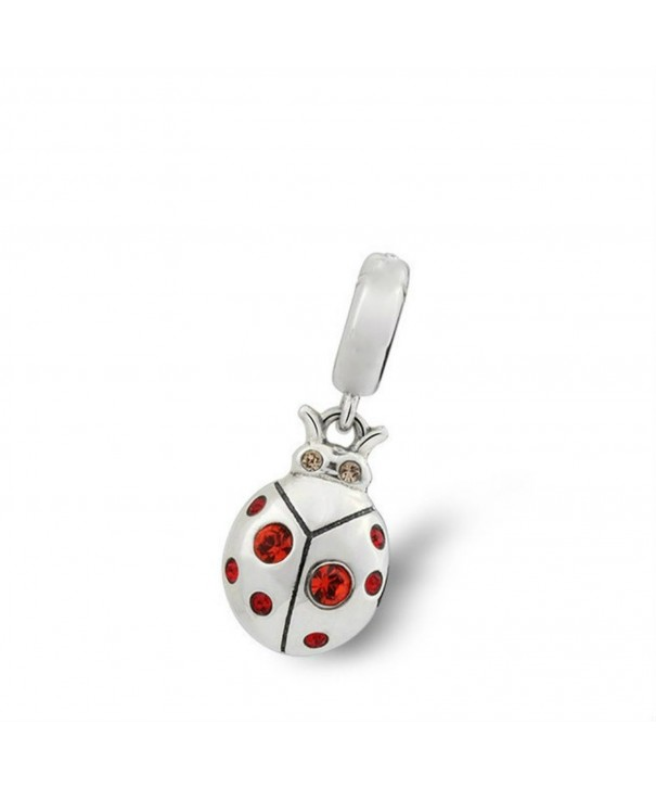 Ladybug Swarovski Crystal Sterling Pandora