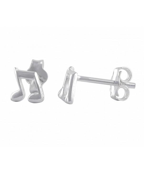 Sterling Silver Music Note Earrings