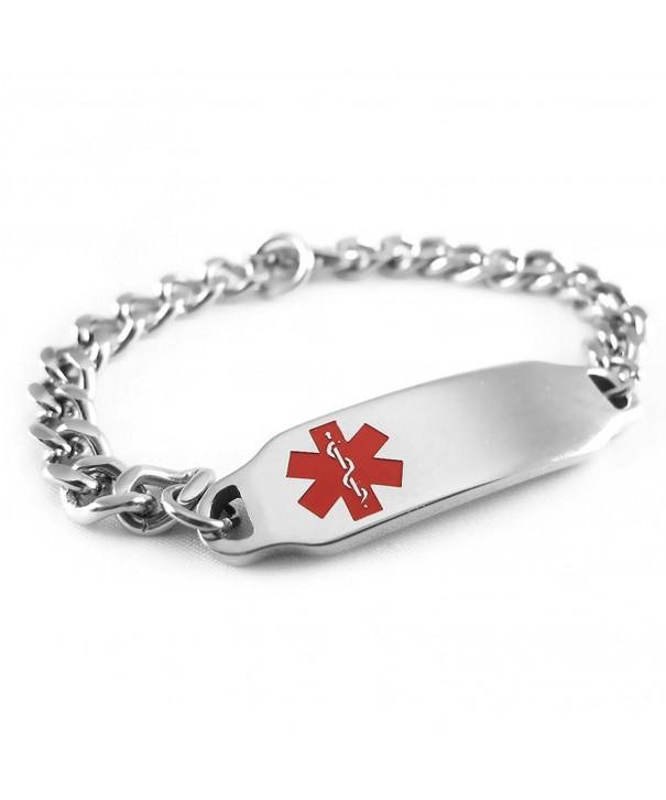 MyIDDr Pre Engraved Customizable Diabetes Bracelet